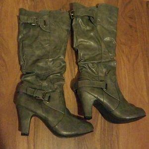 Rue21 ect! Heeled boots sz M 7/8
